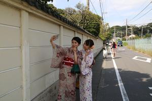鎌倉散策着物写真2