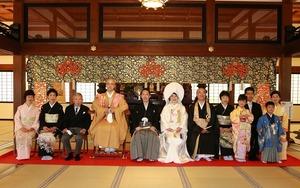円覚寺結婚式家族集合写真