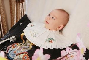 お宮参り 家族写真 スタジオ 鎌倉着物 産着 撮影 八幡宮 (2)