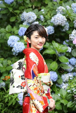 成人式前撮り 紫陽花 アジサイ ロケーションフォト 3