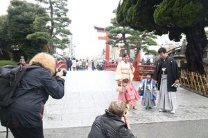 鶴岡八幡宮七五三写真 (1)