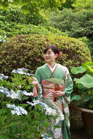 鎌倉成人式振袖写真4
