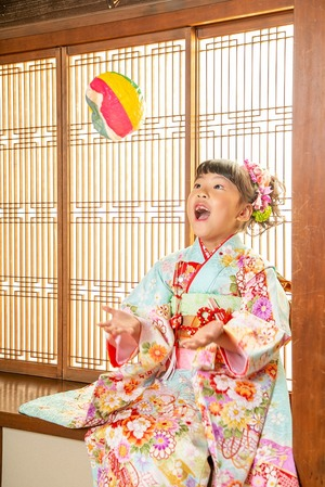 鎌倉7歳お祝い 7歳着物 鎌倉スタジオ写真