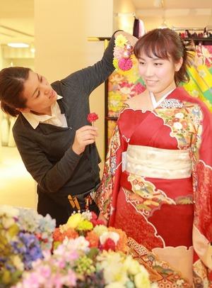 鎌倉成人式オーダメイド髪飾り
