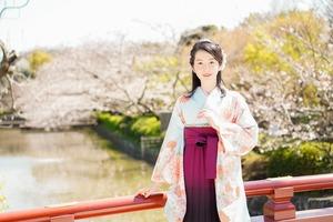 卒業袴桜ロケーションフォト1