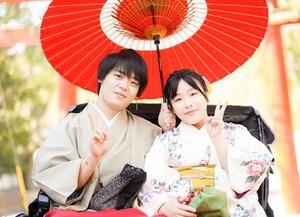 鎌倉散策 着物 カップル 記念日 写真1
