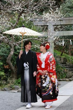 荏柄天神社結婚指揮梅写真