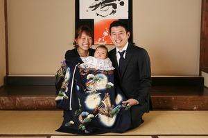 鎌倉お宮参り家族写真和室