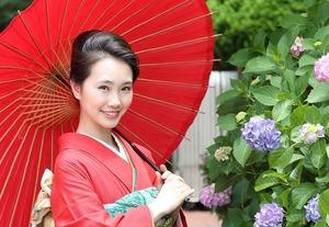 鎌倉成人式振袖紫陽花ロケーション写真