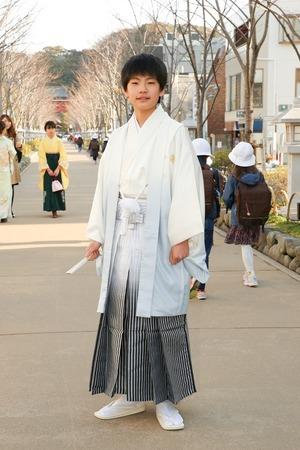 鎌倉小学生卒業袴男児17