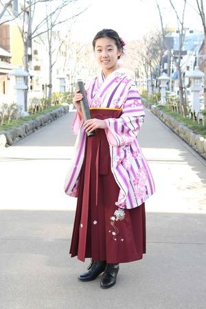 鎌倉小学生卒業袴 女児 (11)