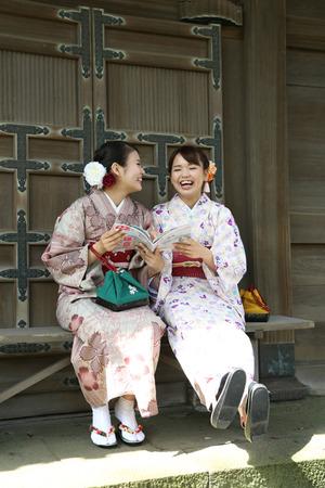 鎌倉散策着物写真1