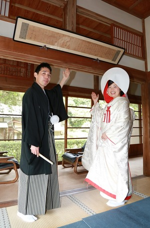 鎌倉結婚式円覚寺帰源院白無垢写真