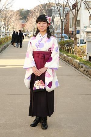 鎌倉小学生卒業袴女児16