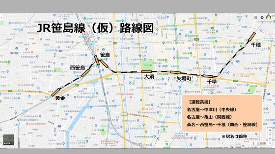 JR名古屋東西線 のコピー