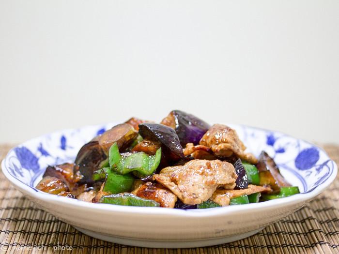 s-茄子と豚肉の生姜焼き1