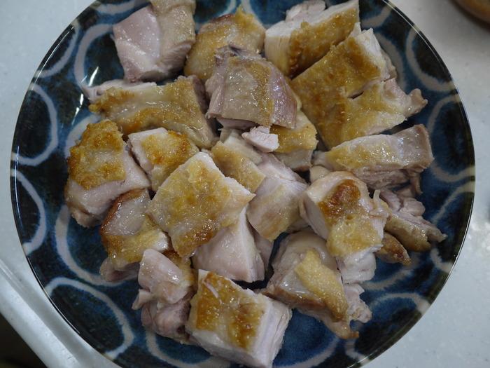 鶏肉の梅肉ソースがけ12