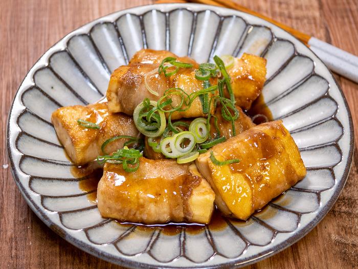 豆腐の豚肉巻き焼き1