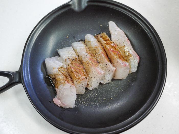 鯛のバルサミコ酢チーズ焼き12