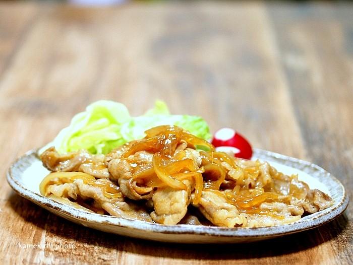 s-薄切り肉で豚の生姜焼き1