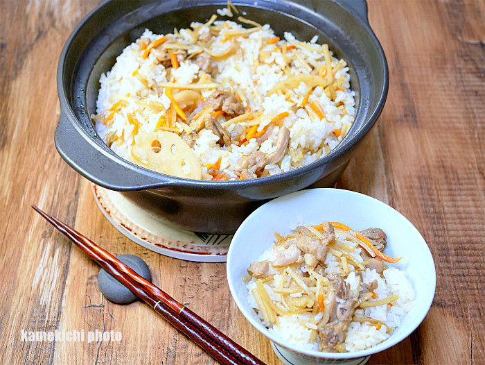 s鶏肉と根野菜の混ぜご飯1