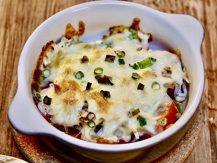 ミニトマトとシラスのチーズ焼き2 2