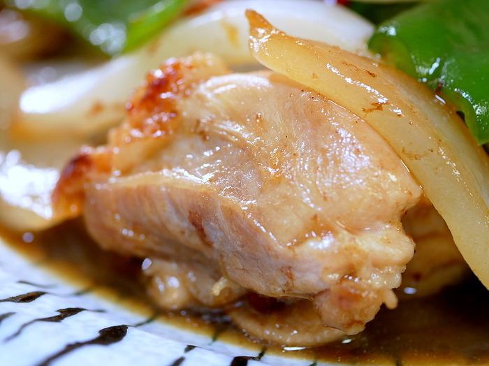 チキンと新玉の生姜焼き3のコピー