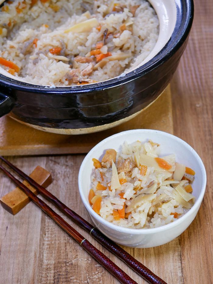 市販の釜飯の素も出汁でタクト美味しい2-2