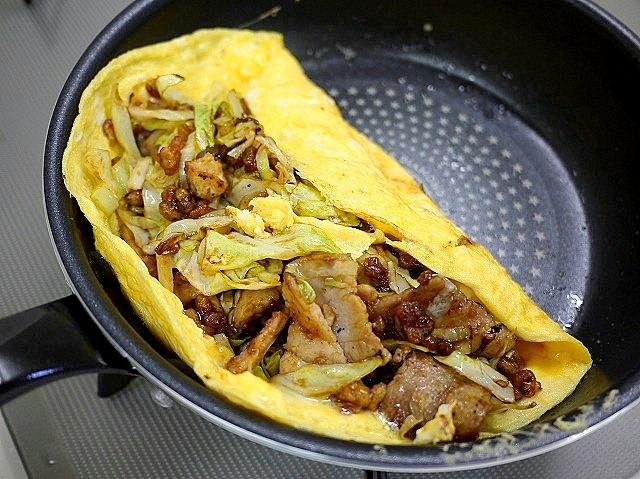 s-豚バラ肉とキャベツのオムレツ7