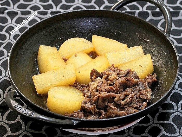 s-夏大根と牛肉の煮物1