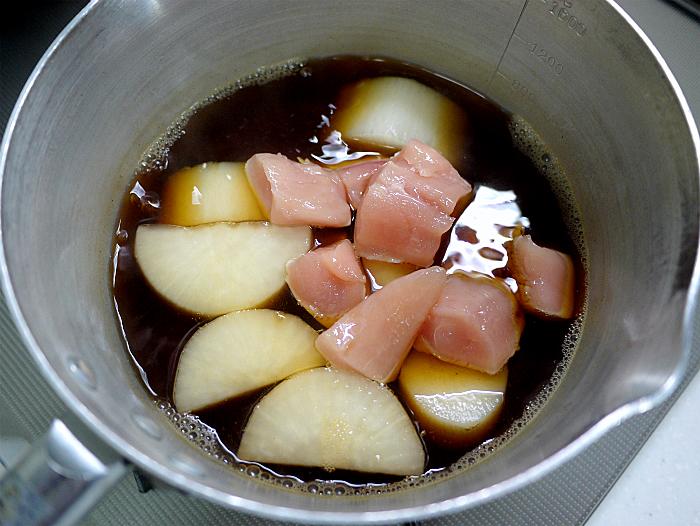 s大根とささみ肉の炒め煮6