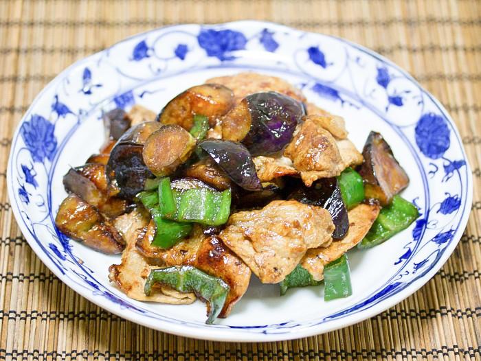 s-茄子と豚肉の生姜焼き3