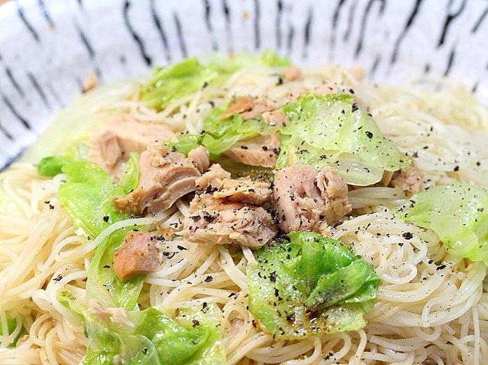 s-ツナとレタスの素麺炒め3