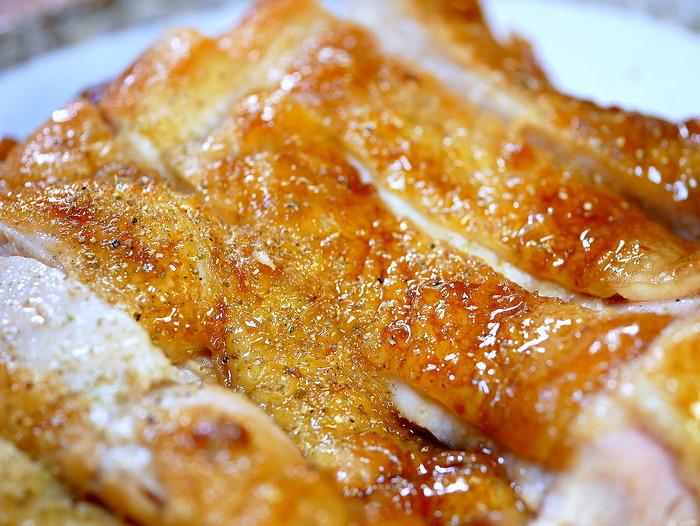 皮面はカリッと焼いて「鶏の照り焼き」3のコピー