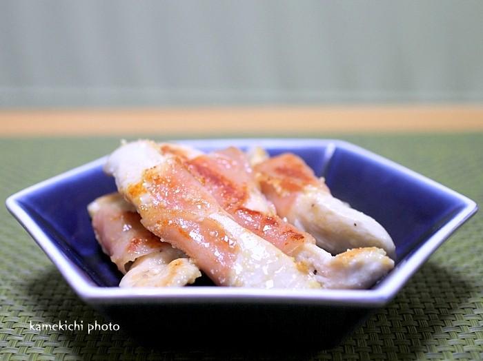 s-鶏ささみ肉の生ハム巻きチーズソテー1