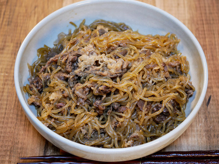 糸こんのすき炒め煮(牛肉入り)1