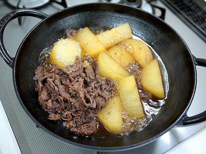 s-夏大根と牛肉の煮物11