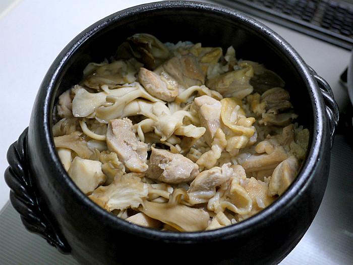 sまん丸ご飯鍋で鳥釜飯7