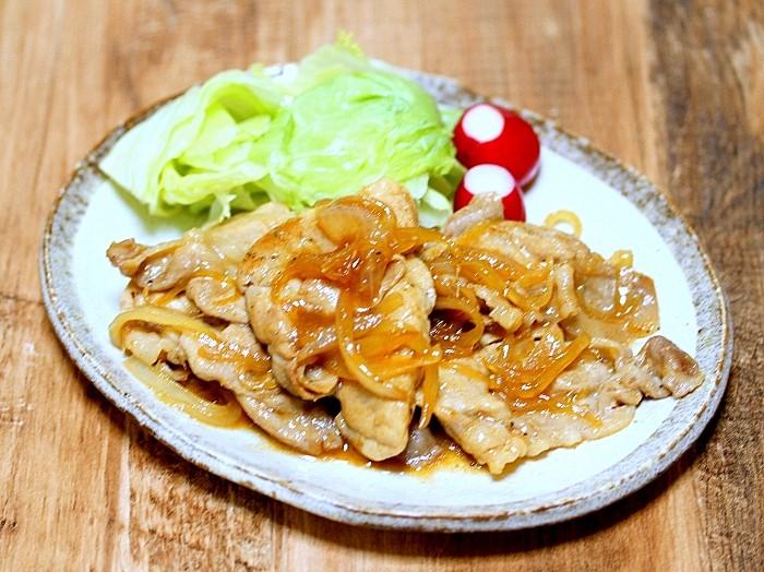 s-薄切り肉で豚の生姜焼き3