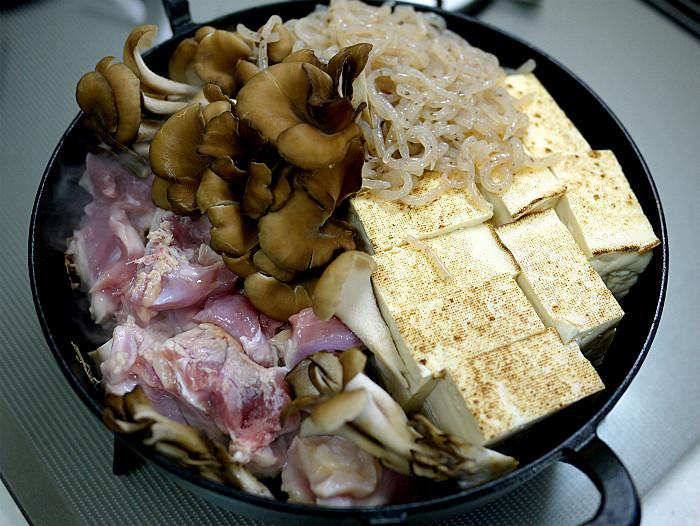 sスキレットで鶏肉のすき煮5