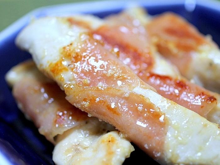 s-鶏ささみ肉の生ハム巻きチーズソテー2