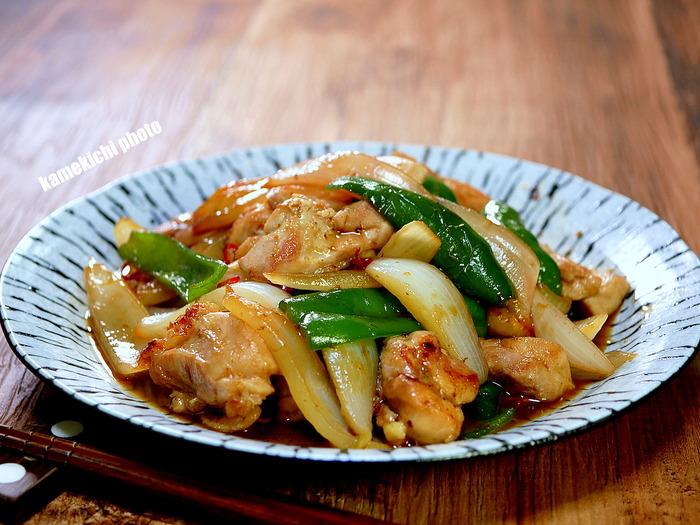 チキンと新玉の生姜焼き1のコピー