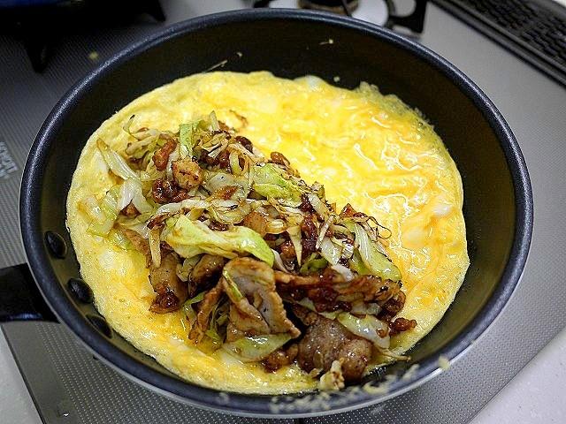 s-豚バラ肉とキャベツのオムレツ6