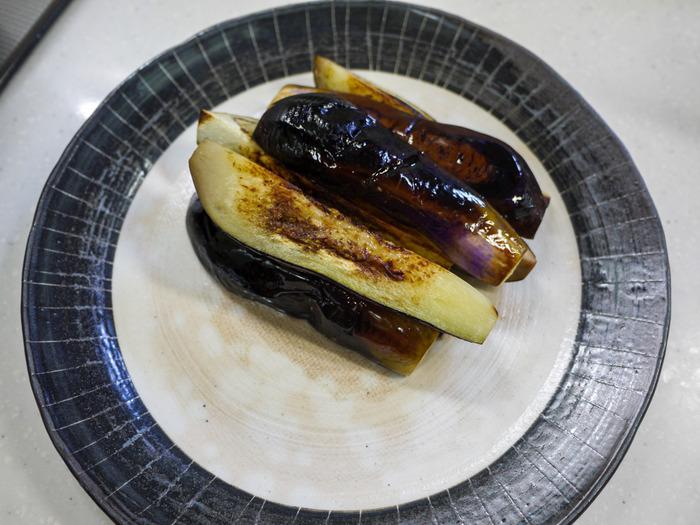茄子の挽き肉味噌がけ9