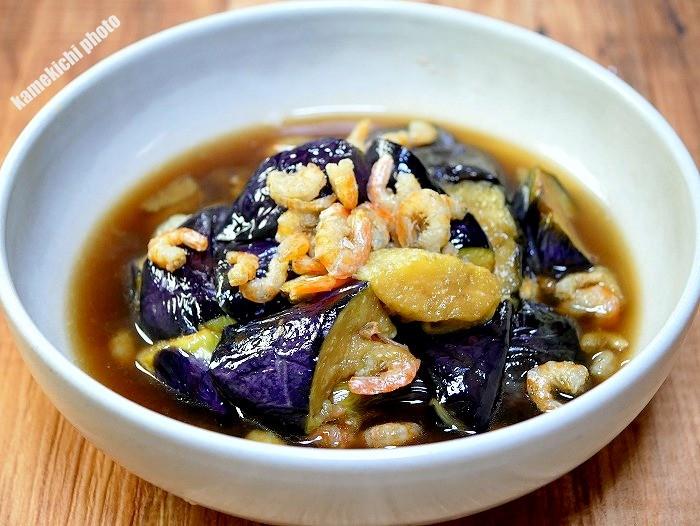 s-干し海老と茄子のうま煮1