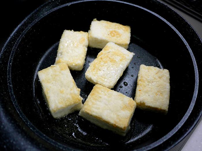 sしっかりと焼いて「豆腐ステーキ」6