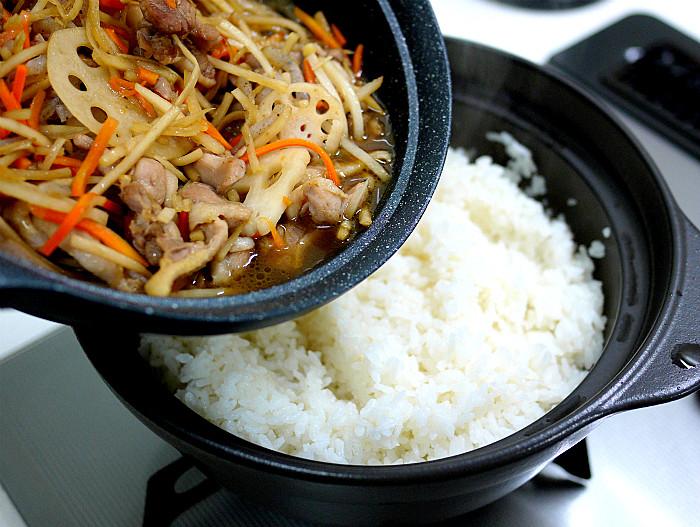 s鶏肉と根野菜の混ぜご飯9