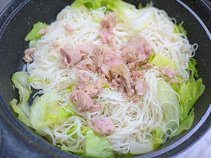 s-ツナとレタスの素麺炒め8