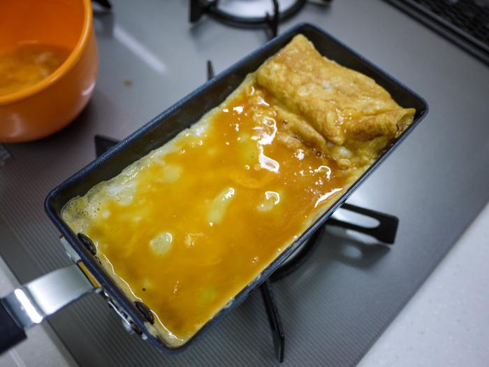 あのちっちゃ卵焼き器で厚焼き玉子5-2