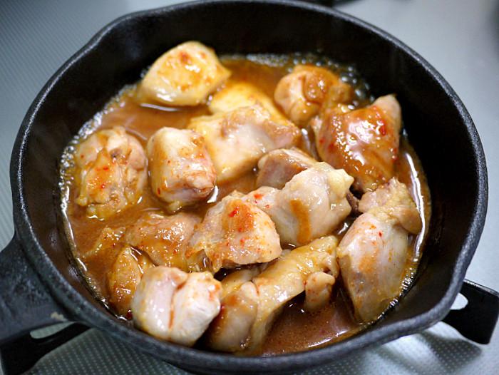 s鶏肉のキムチ焼きタレ焼き4